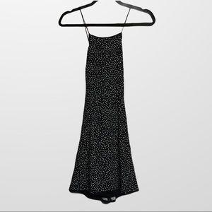 Wilfred mini black and white polka dot dress